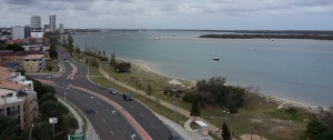 View from 4th floor unit on the Broadwater at Labrador. Ruined by traffic noise.