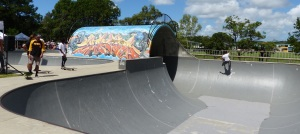 "Elanora Skate Bowl including the famous ""pipe""."
