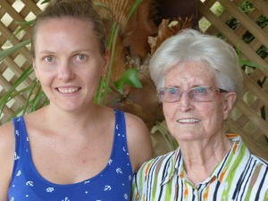 Alecia and Great Aunt Peg.