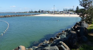 This is the swimming enclosure at Tuncurry breakwater wall.