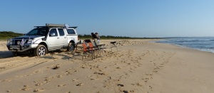Just pull up anywhere on Tuncurry Beach put out tables and chairs and start cooking breakfast.