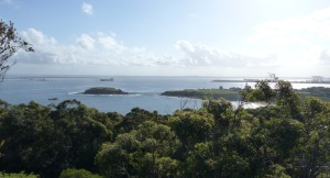 From the Golf Club can be seen La Perouse, Congwong Bay, Bear Island,Kurnell, container ship and beyond.