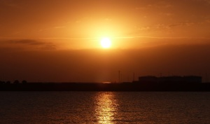 Sunset over Port Botany.