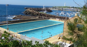 The later pools (Continental Pools) have been in use for 90 years. First opened in 1926. These pools  have water continually replenished either by a pump or the action of tide and waves. They also have overflow valves.