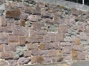 Part of wall at Wollongong Harbour,