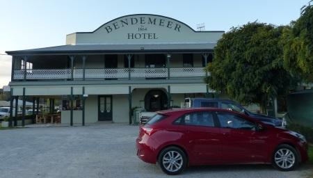 i30 parked outside Bendemeer Hotel.