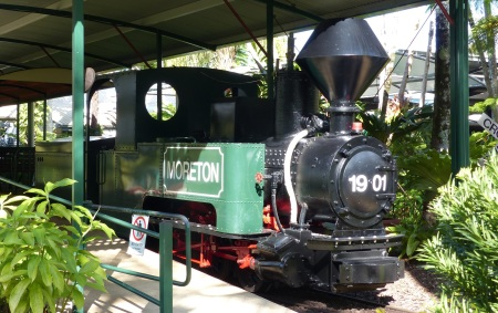 This is one of a few remaining sugar cane trains which once criss crossed the fields of sugar in this fertile valley. It takes visitors on a ride in and around the factory and gardens.