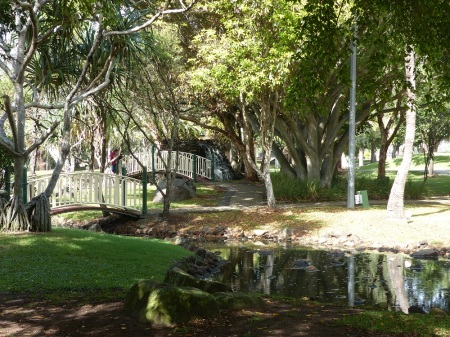 Water course and footbridges on McIntosh Island.