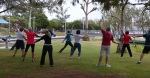 Tai Chi in the park beside The Broadwater.